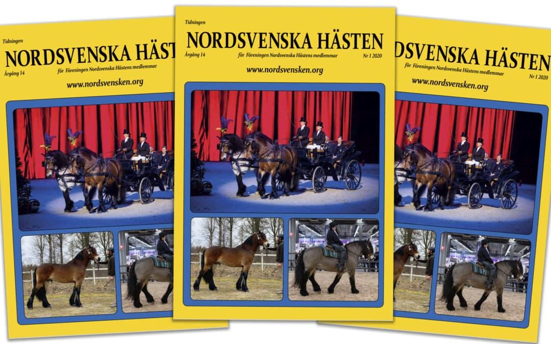 """Nr 1 av """"Nordsvenska Hästen"""" på väg ut till medlemmarna"""
